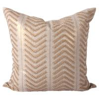Cahaya Global Gold Embroidered Beaded Decorative Pillow ...