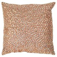 Marion Light Pink Jeweled Hand Beaded Pillow - 10x10 ...