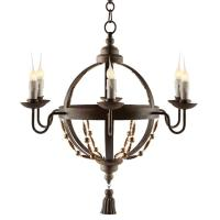 Atlas Globe French Country Tassel 6 Light Chandelier ...