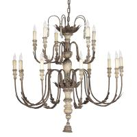 Katrina Antique Silver French Country 14 Light Chandelier ...