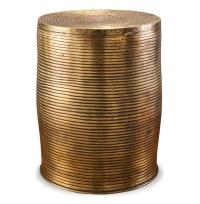 Unni Antique Brass Round Garden Stool Accent Side Table ...