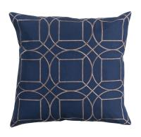 Goldie Hollywood Regency Linen Down Navy Pillow - 22x22 ...