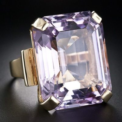 Retro Modern Period Kunzite_Ring