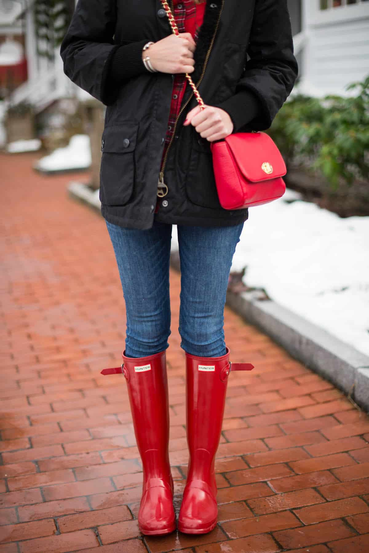Tall Red Hunter Boots In The Berkshires Katie39s Bliss