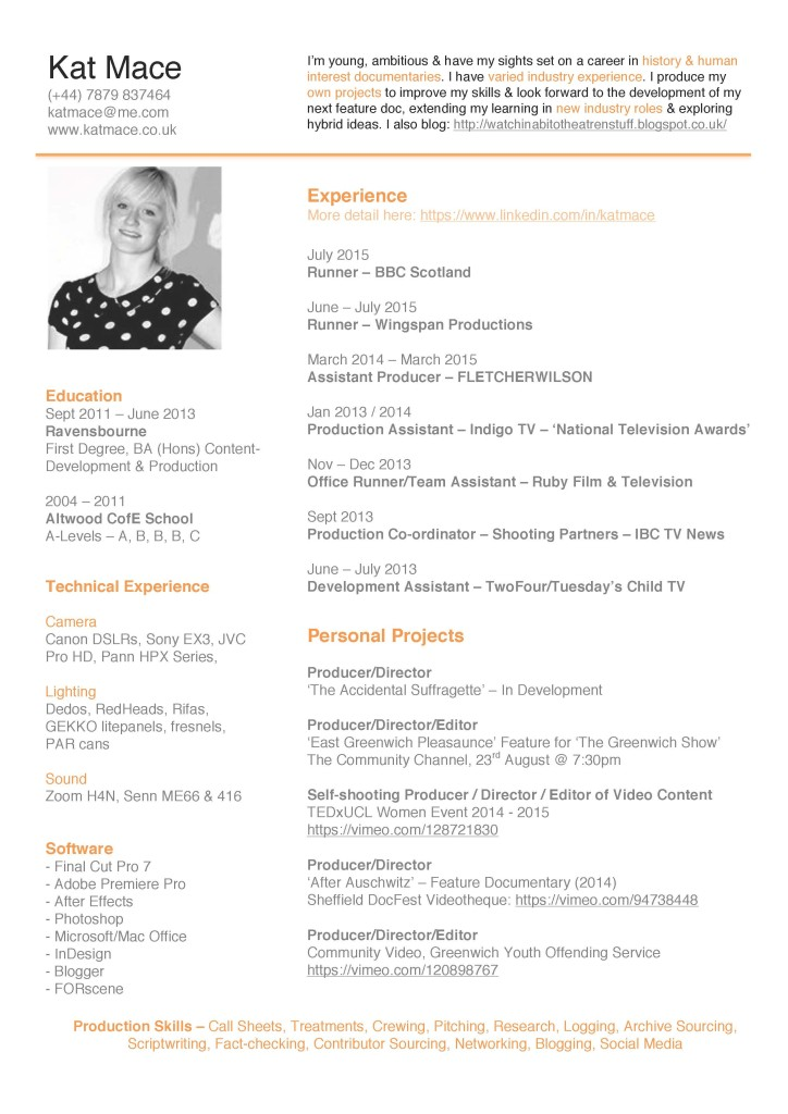 resume categories resume samples free sample resume examples kat mace