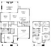 Floor Plan Friday: Split level modern