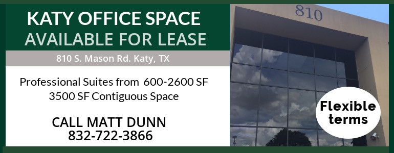 Katy Office Space Available 9/1/18