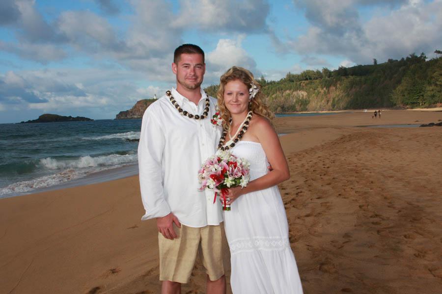 secret beach wedding on kauai s north shore kauai weddings