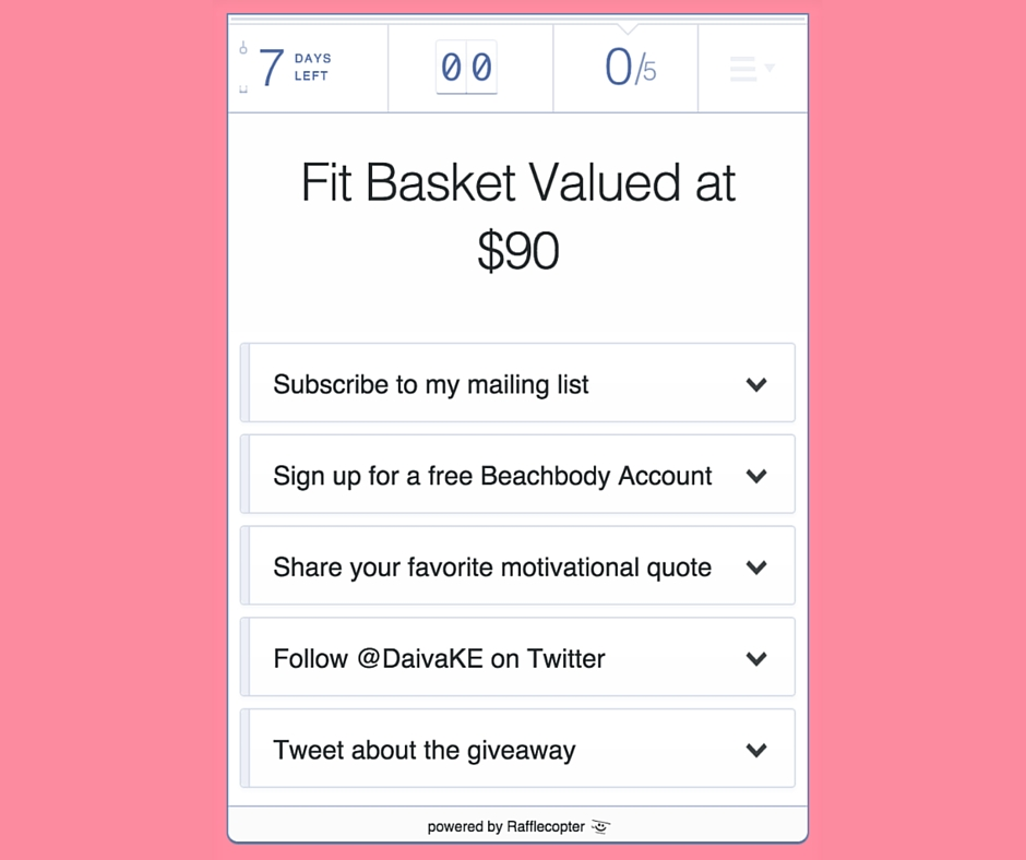 Daiva Fit - Giveaway