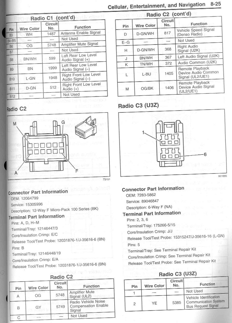 c6 radio wiring diagram