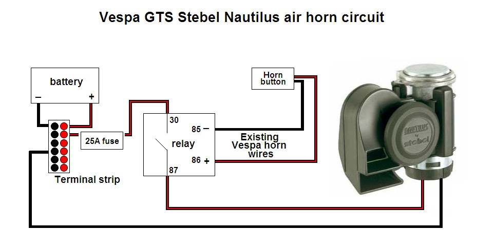 Stebel Horn Wiring Diagram Wiring Diagram