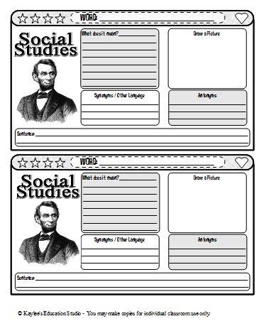 New Vocabulary Journal Templates - Kaylee\u0027s Education Studio