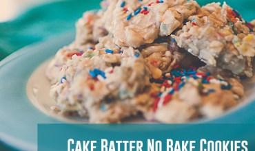 Cake Batter No Bake Cookies – Best Cookies Ever!!