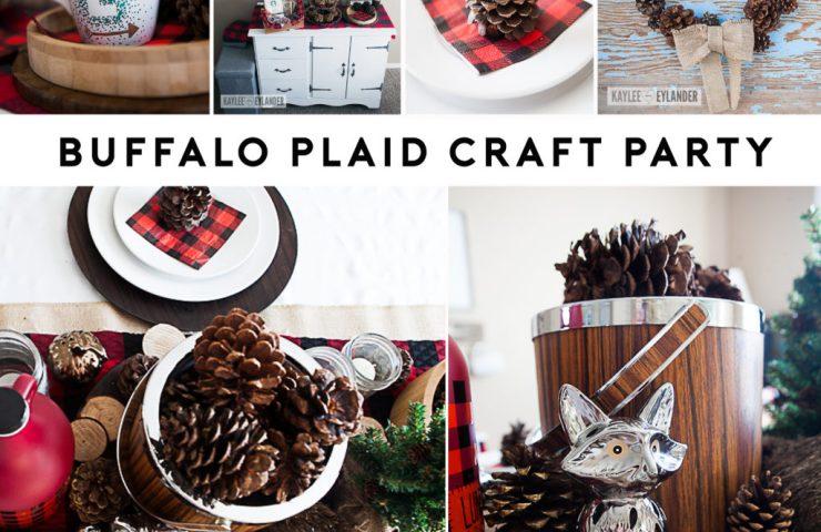 Pine Cone Wreath Tutorial   Buffalo Plaid Party