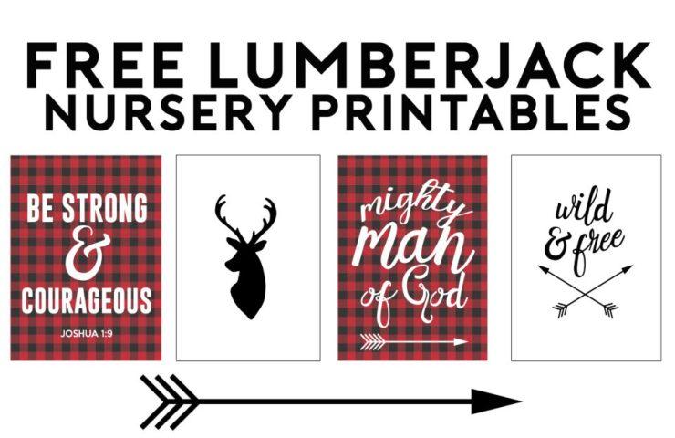 Lumberjack Free Printables | Nursery Gallery Wall Ideas