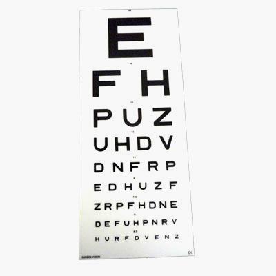 Eye Test Chart - Snellen 6 Metre - EFH - DVLA Kays Medical