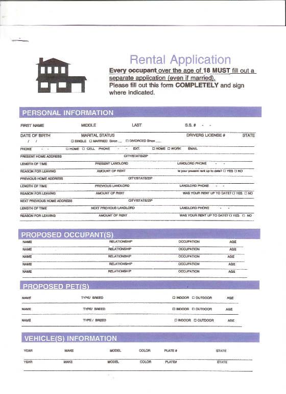 Online Rental Application - Credit Check Release Form
