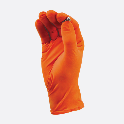 TGC WorkGear Orange Nitrile Gloves - KBS Coatings
