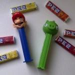 Mario Pez and Angry Bird Pez with Pez bricks