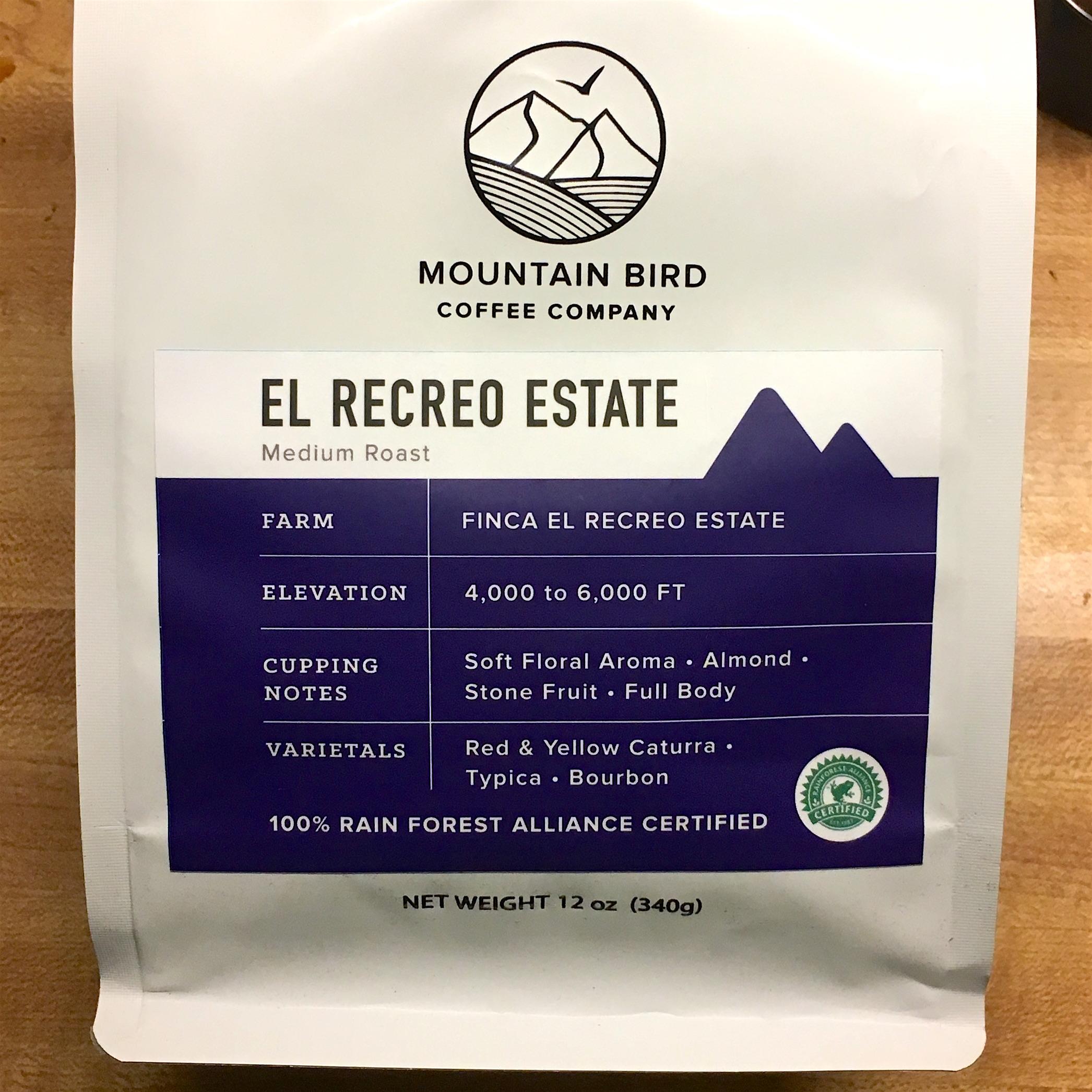 Mountain Bird Coffee Co. Nicaragua El Recreo Estate