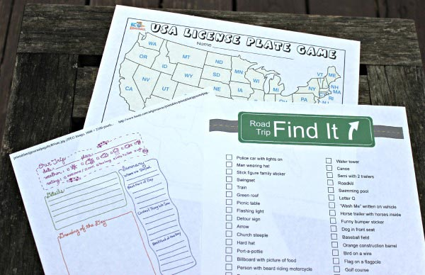 Road Trip Checklist {free printable Car Trip Planner - grocery template printable