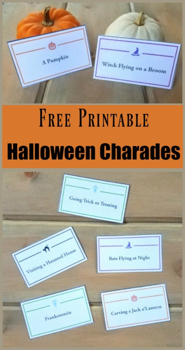 Halloween Charades Game Cards  Word List - Edventures with Kids