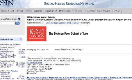 King\u0027s College London - Legal Studies Research Paper Series