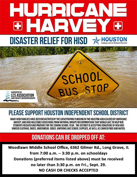 Woodlawn Principal 0027s Blog 9/15/17 Woodlawn Principal 0027s Message - disaster relief flyer