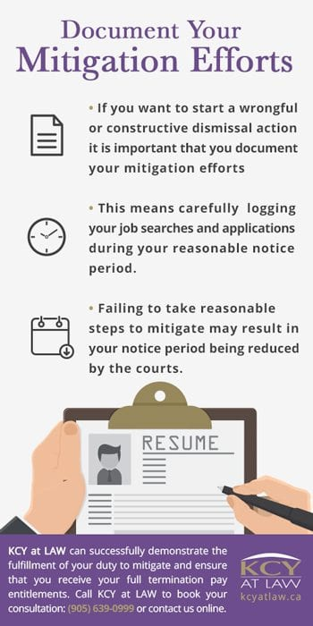 Duty to Mitigate Helping The Employer Who Fired You? KCY at LAW - why notice period is important