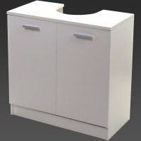 White Under Sink Cabinet Basin Cupboard Storage Double ...