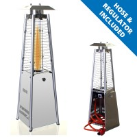 Garden Table Top Patio Heater Stainless Steel Pyramid ...