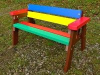 Thames Children's Multicoloured Bench Education