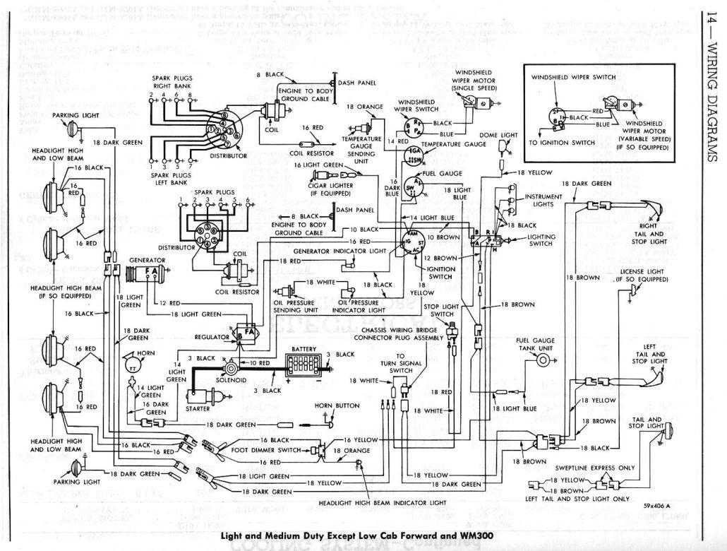 1964 dodge d100 bedradings schema