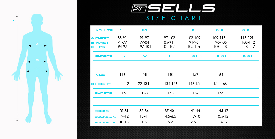 Sells Goalkeeper Products Sizing Guide Keeperstop
