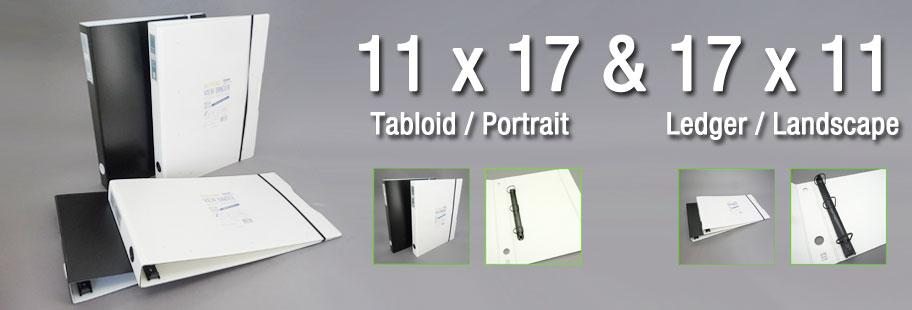 11x17 Binder  11x17 3-Ring Binders - Horizontal  Portrait