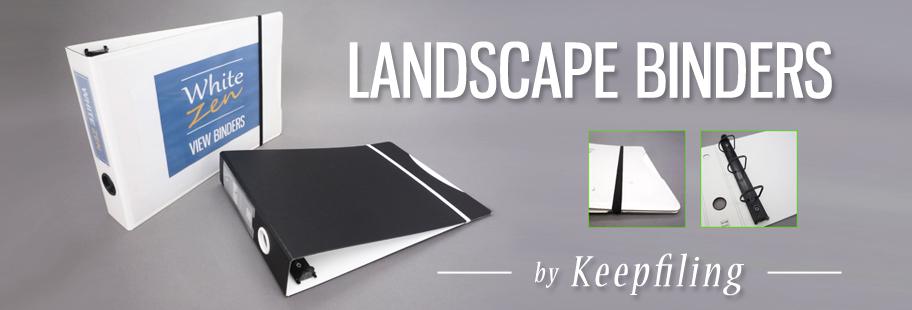 Landscape Binder - Panoramic Horizontal Binder - 3-Ring