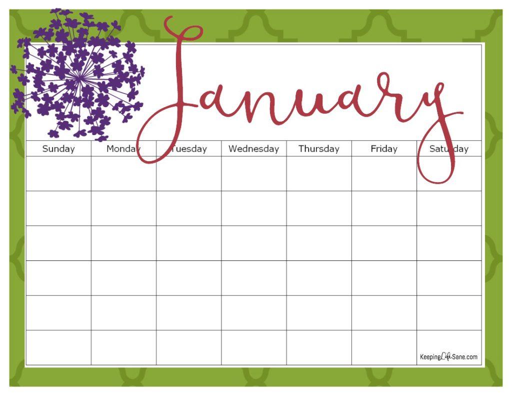 2016 Wall Calendar Printable Free 2018 Calendar Printable Free Printable Calendar Printable Blank Calendar For Free Keeping Life Sane