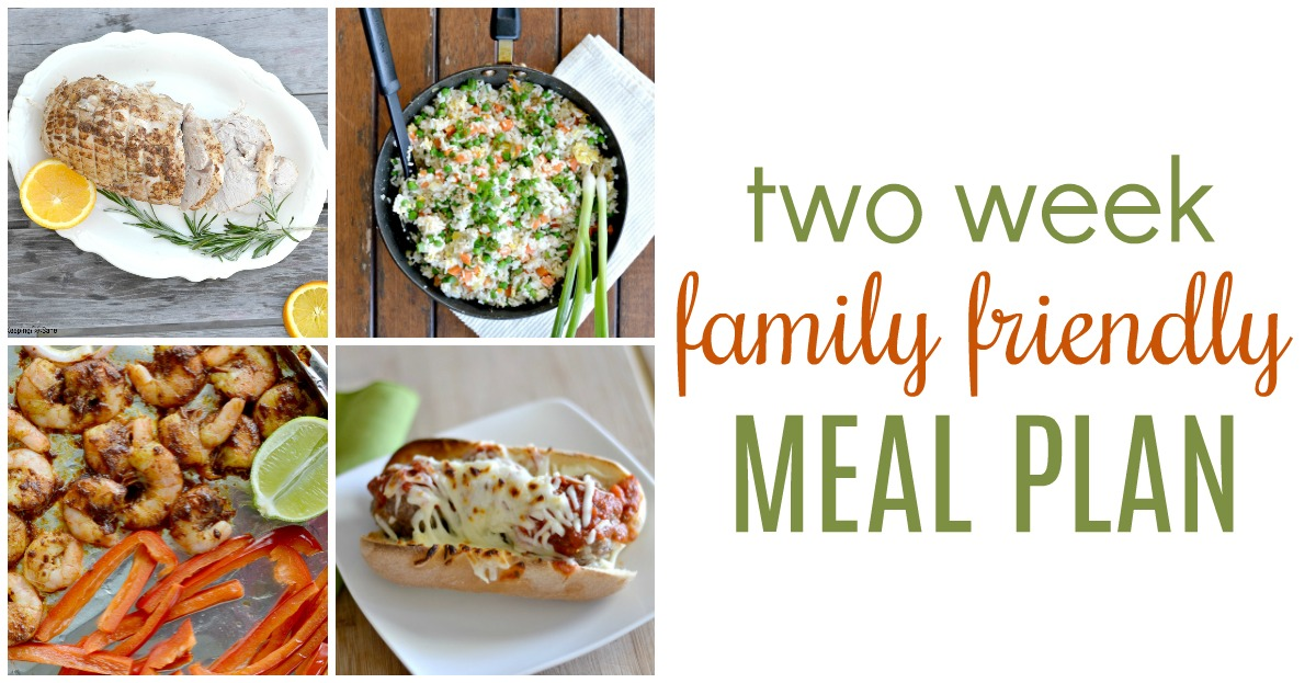 Family Friendly Two Week Dinner Meal Plan - Keeping Life Sane - how to plan weekly meals for two