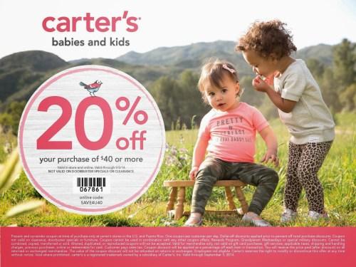 Carter's blogger coupon