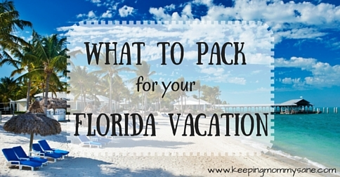 What to pack to be stylish & comfortable on your Florida vacation {www.keepingmommysane.com}