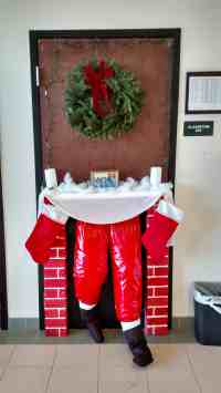 Christmas Door Decoration Ideas For Work