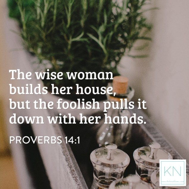 Proverbs fourteen one