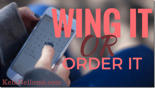 Pursuing What Is Excellent -- Wing It or Order It 1