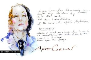 Women You Must Know #3: Anne Carson by Marta Spendowska