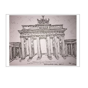 021: Brandenburg Gate Berlin postcard - Kelly Goss Art