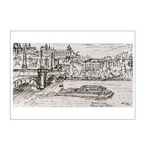 022: Vltava River Prague postcard - Kelly Goss Art