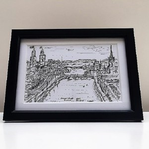 Sketch of the Limmat River, Zurich - Kelly Goss