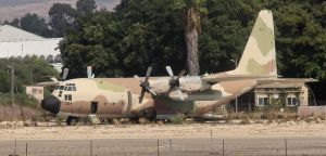 This is the Israeli Air Force Hercules we flew home in from Mombasa, Kenya