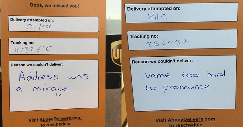 This BC company sends witty missed delivery notes to shipping