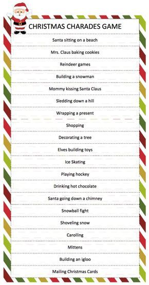 bible charades word list christmas charades free printable party